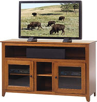 Economy TV Stand|Oak in Acres OCS106|52in W x 18in D x 32in H|The Amish Home|Hardwood Furniture at the Pittsburgh Mills