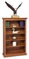 Raised Panel Bookcase|Cherry in Boston OCS111|39 1/2in W x 14 1/2in D x 36in H|The Amish Home|Amish Furniture at the Pittsburgh Mills