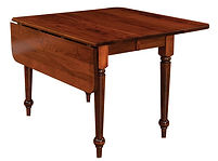 Spring Valley Drop Leaf Dining Table|Cherry in Acres|Many Sizes Available|The Amish Home|Amish Furniture at the Pittsburgh Mills