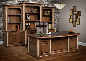 Jefferson Office Furniture Collection||Solid Cherry in Chocolate Spice|The Amish Home|Amish Furniture at the Pittsburgh Mills