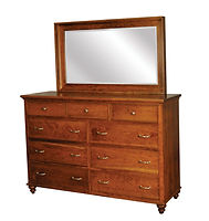 Duchess Tall Dresser|Rustic Cherry in Asbury OCS117|66in W x 20 5/8in D x 43 1/2in H|The Amish Home|Amish Furniture at the Pittsburgh Mills