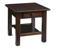 Contemporary End Table | Brown Maple in Rich Tobacco OCS228 | 22in W x 24in D x 24in H | The Amish Home | Amish Furniture at the Pittsburgh Mills
