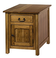 New Brunswich End Table|Oak in Provincial OCS112|22in W x 26in D x 25in H|The Amish Home|Amish Furniture at the Pittsburgh Mills