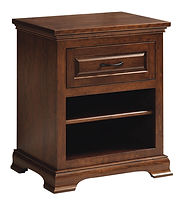 Wilkshire 1 Drawer Nightstand|Rustic Cherry in Boston OCS111|24in W x 18in D x 28in H|The Amish Home|Amish Furniture at the Pittsburgh Mills