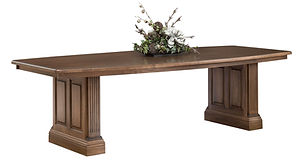Montereau Conference Table | Brown Maple in Rock Tavern | 48in W x 108in D x 30 3/4in H | The Amish Home | Amish Furniture at the Pittsburgh Mills