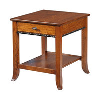 Cranberry End Table | Quartersawn White Oak in Michaels OCS113 | 22in W x 24in D x 24in H | The Amish Home | Amish Furniture at the Pittsburgh Mills