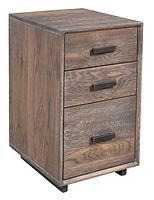 Capri Industrial Style Under Desk Cabinet with metal base|Oak in Antique Slate OCS118|15 1/2in W x 19in D x 27 1/4in H|The Amish Home|Amish Furniture at the Pittsburgh Mills
