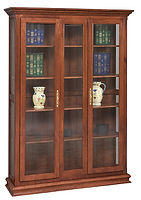 Double Door Picture Frame Bookcase|Cherry in Washington OCS107|52in W x 14in D x 73in H|The Amish Home|Amish Furniture at the Pittsburgh Mills