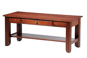 Arlington Coffee Table|Brown Maple in Coffee OCS226|42in W x 22in D x 18in H|The Amish Home|Amish Furniture at the Pittsburgh Mills