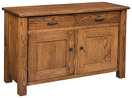 Teton 2 Door Buffet|Oak in Michaels OCS113|55 3/4in W x 20 1/4in D x 35in H|The Amish Home|Amish Furniture at the Pittsburgh Mills
