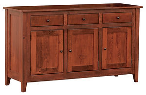 Larkspur Buffet|Rustic Cherry in Michaels OCS113|60in W x 19 3/4in D x 35 1/4in H|The Amish Home|Amish Furniture at the Pittsburgh Mills