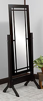 Colonial Mission Cheval Mirror|Brown Maple in Onyx OCS230|26 3/4in W x 17in D x 68 1/4in H|The Amish Home|Hardwood Furniture at the Pittsburgh Mills