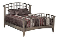 Choices Dowel Bed|Brown Maple in Smoke OCS121|Headboard 46in H, footboard 36in H|The Amish Home|Amish Furniture at the Pittsburgh Mills