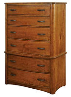 Meridian Chest on Chest|Rustic Cherry in Seely OCS104|38 3/4in W x 20 5/8in D x 64in H|The Amish Home|Amish Furniture at the Pittsburgh Mills