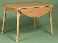 Oak Round Dining Table with legs and drop leaves