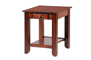Arlington End Table|Brown Maple in Coffee OCS226|24in W x 20in D x 24in H|The Amish Home|Amish Furniture at the Pittsburgh Mills