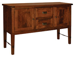 Hudson Buffet with plank top|Rustic Cherry in Michaels OCS113|60in W x 20in D x 39in H|The Amish Home|Amish Furniture at the Pittsburgh Mills
