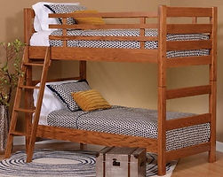 Camp Teton Bunk Bed|Oak in Seely OCS104|in W x in D x in H|The Amish Home|Amish Furniture at the Pittsburgh Mills