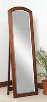 Antique Shaker Leaner Mirror with Support|Brown Maple in Michaels OCS113|21in W x 13 1/2in D x 68 1/2in H|The Amish Home|Hardwood Furniture at the Pittsburgh Mills