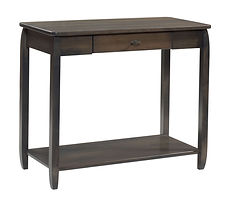 Apache Hall Table|Brown Maple in Antique Slate OCS118|48in W x 16in D x 30in H|The Amish Home|Amish Furniture at the Pittsburgh Mills