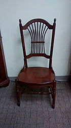 Deluxe Sheafback Side Chair with wood seat Floor Model Special Cherry with Acres Stain