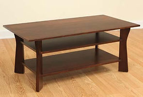 Westfield Coffee Table|Brown Maple in Coffee OCS226|42in W x 22in D x 18in H|The Amish Home|Amish Furniture at the Pittsburgh Mills