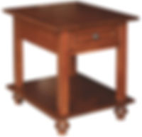 Oceanside End Table | Rustic Cherry in Boston OCS111 | 22in W x 26in D x 25in H | The Amish Home | Amish Furniture at the Pittsburgh Mills