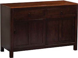 Lillie 2 Door Buffet|Two-tone in |52in W x 20 1/4in D x 35in H|The Amish Home|Amish Furniture at the Pittsburgh Mills