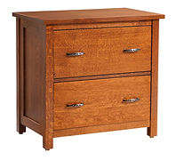 Coventry Mission Lateral File Cabinet | Quartersawn White Oak in Michaels OCS113 | 32in W x 20in D x 30 1/4in H | The Amish Home | Amish Furniture at the Pittsburgh Mills