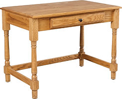 Large Writing Desk|Oak in Seely OCS104|40in W x 24in D x 30in H|The Amish Home|Amish Furniture at the Pittsburgh Mills