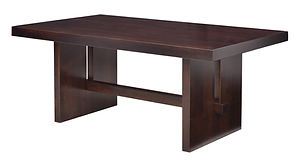 Elwood Dining Table | Brown Maple in Rich Tobacco OCS228 | Many Sizes Available | The Amish Home | Amish Furniture at the Pittsburgh Mills