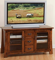 Monterey TV Stand|Brown Maple in Asbury OCS117|Three Sizes Available|The Amish Home|Amish Furniture at the Pittsburgh Mills