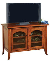 Bunker Hill TV Stand | Brown Maple in Michaels OCS113 | 40in W x 20in D x 30in H | The Amish Home | Amish Furniture at the Pittsburgh Mills