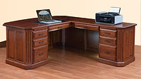 Fifth Avenue L-Desk | Cherry in Washington OCS107 | 72in W x 78in D x 30in H | The Amish Home | Amish Furniture at the Pittsburgh Mills