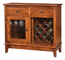 Canterbury Wine Cabinet|Rustic Cherry in Michaels OCS113|43in W x 17in D x 39 1/2in H|The Amish Home|Amish Furniture at the Pittsburgh Mills