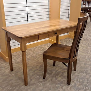 Cortland Writing Desk In Stock - Brown Maple in Fruitwood