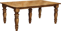 Leg Table Group C Leg Dining Table Group C|Rustic Cherry in Asbury OCS117|in W x in D x in H|The Amish Home|Amish Furniture at the Pittsburgh Mills
