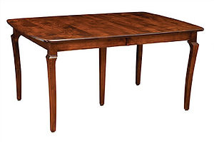American furniture dining table with leaf storage dinette set Amish furniture Pittsburgh Mills