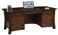 David's Jefferson Desk | Brown Maple in Rich Tobacco OCS228 | 68in W x 30in D x 30in H | The Amish Home | Amish Furniture at the Pittsburgh Mills