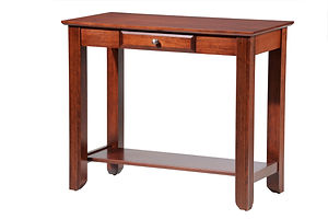 Arlington Sofa Table Brown Maple in Coffee OCS226 36in W x 18in D x 30in H The Amish Home Hardwood Furniture at the Pittsburgh Mills