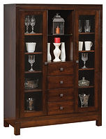 Hampton Meadow China Cabinet|Brown Maple in Rich Tobacco OCS228|45in W x 18 1/2in D x 61in H|The Amish Home|Amish Furniture at the Pittsburgh Mills