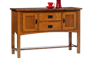 New Classic Mission Sideboard|Quartersawn White Oak in Michaels OCS113|54in W x 19in D x 36in H|The Amish Home|Amish Furniture at the Pittsburgh Mills Amish Dining Solutions