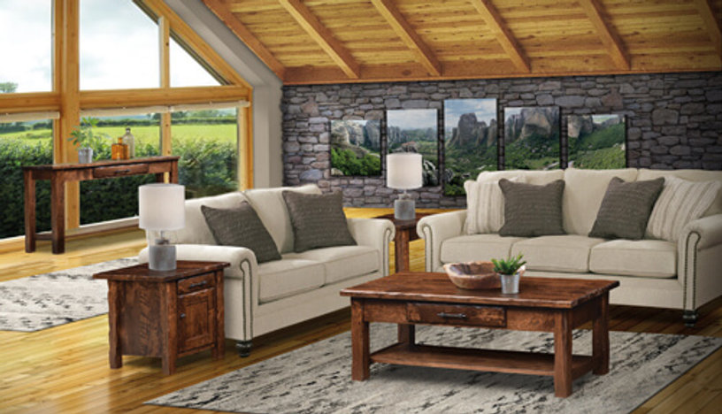 Hand Hewn Living Room Furniture