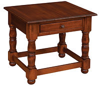 Irvin's Manchester End Table | Brown Maple in Michaels OCS113 | 28in W x 26in D x 24in H | The Amish Home | Amish Furniture at the Pittsburgh Mills