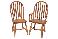 High Bent Paddle Dining Chair|Oak in Fruitwood OCS102 | Shown with Wood Seat.|The Amish Home|Amish Furniture at the Pittsburgh Mills
