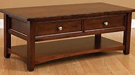 Open Garnet Hill Coffee Table | Brown Maple in Rich Cherry OCS227 | 48in W x 22in D x 18in H | The Amish Home | Amish Furniture at the Pittsburgh Mills