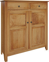 Auburn Pie Safe with two doors and two drawers | with two adjustable shelves | Brown Maple in Fruitwood OCS102 | 48in W x 16in D x 51in H | The Amish Home | Amish Furniture at the Pittsburgh Mills