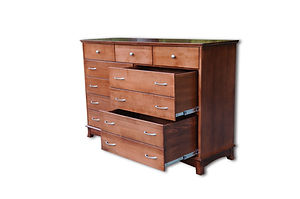Crescent Blanket Dresser|Cherry in S-14 OCS108|65 1/2in W x 20 3/4in D x 43in H|The Amish Home|Amish Furniture at the Pittsburgh Mills