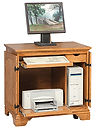 Miniature Petite Computer Armoire shown open | Oak in MX OCS103 | 34in W x 211/4in D x 32in H | The Amish Home | Amish Furniture at the Pittsburgh Mills