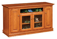 Wayne's Traditional TV Stand | Oak in Seely OCS104 | 60in W x 18in D x 33 1/2in H | The Amish Home | Amish Furniture at the Pittsburgh Mills